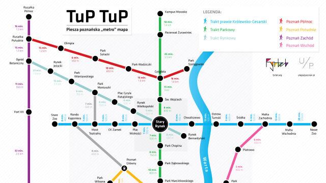 rusza pozna skie metro piesze zobacz map po cze tup tupa. Black Bedroom Furniture Sets. Home Design Ideas