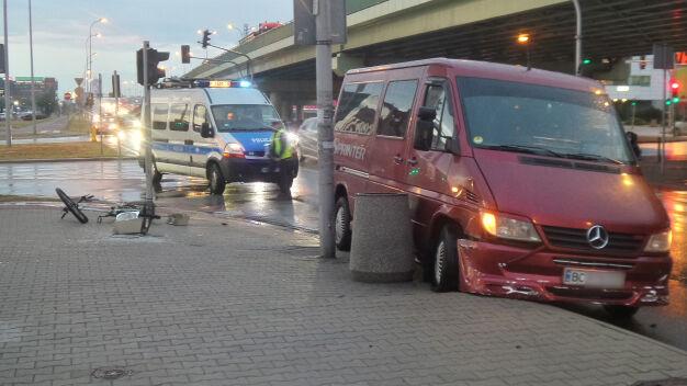 Rowerzystka potrącona w Alejach Jerozolimskich