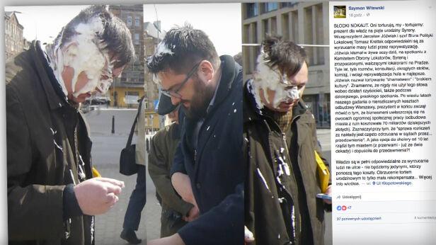 Atak tortem Szymon Witewski / facebook