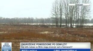 Zagrożenie powodziowe w gminie Słubice (TVN24)